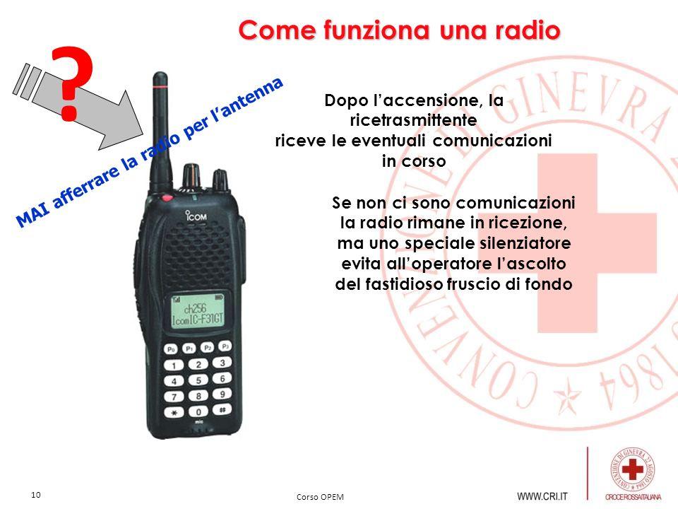 Come funziona una radio Dopo l'accensione, la ricetrasmittente