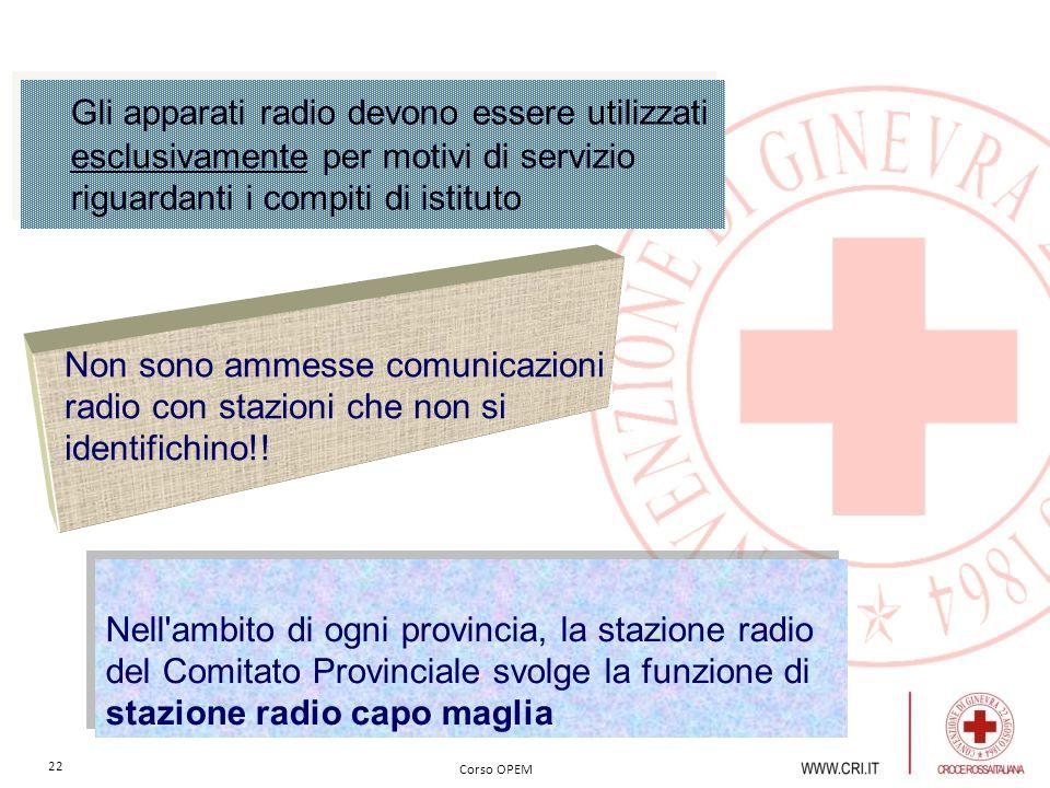 Gli apparati radio devono essere utilizzati esclusivamente per motivi di servizio riguardanti i compiti di istituto