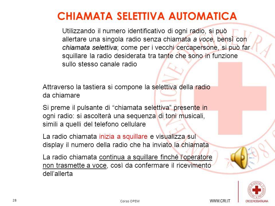 CHIAMATA SELETTIVA AUTOMATICA
