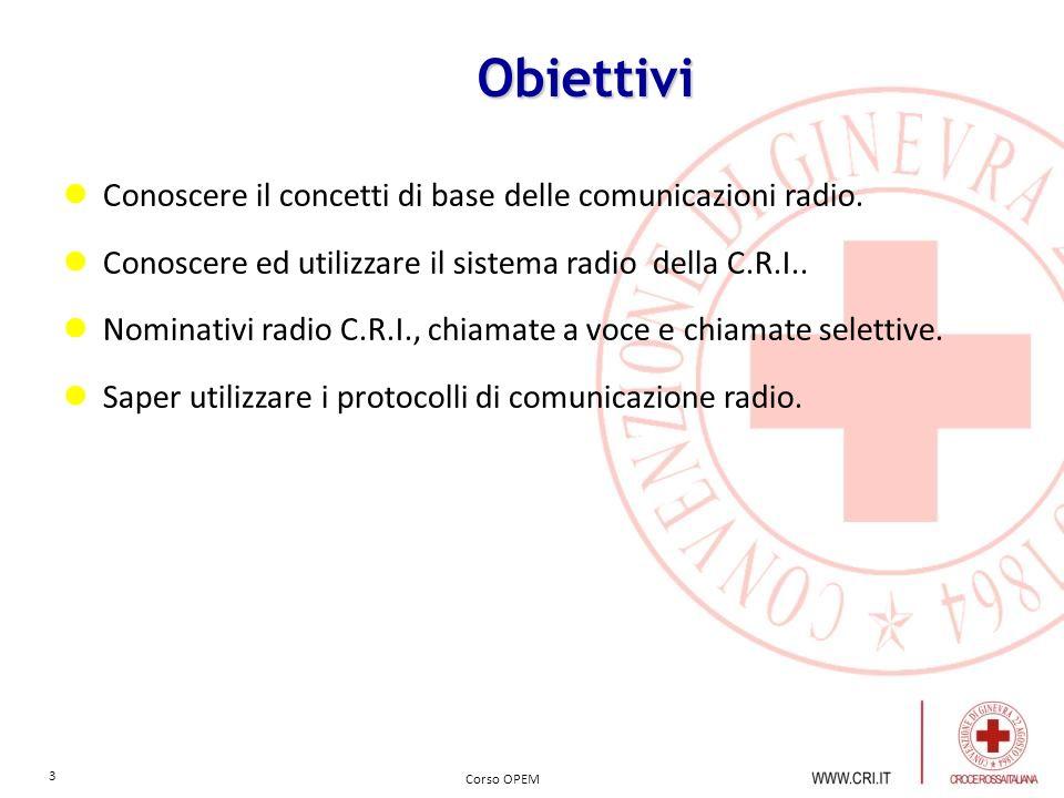 Obiettivi Conoscere il concetti di base delle comunicazioni radio.