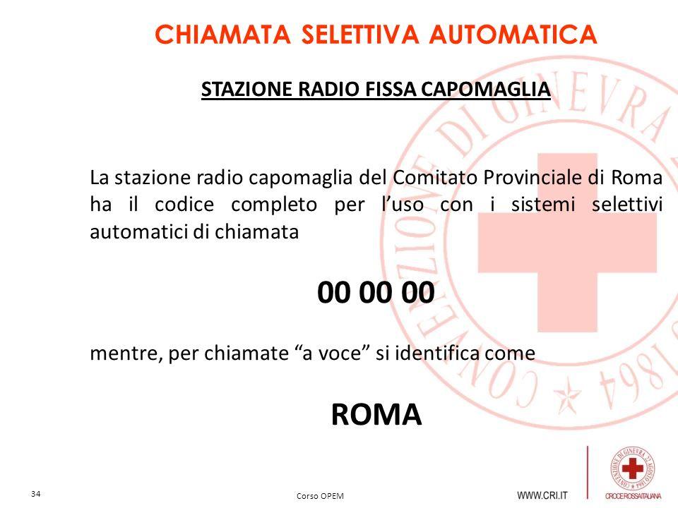 CHIAMATA SELETTIVA AUTOMATICA STAZIONE RADIO FISSA CAPOMAGLIA