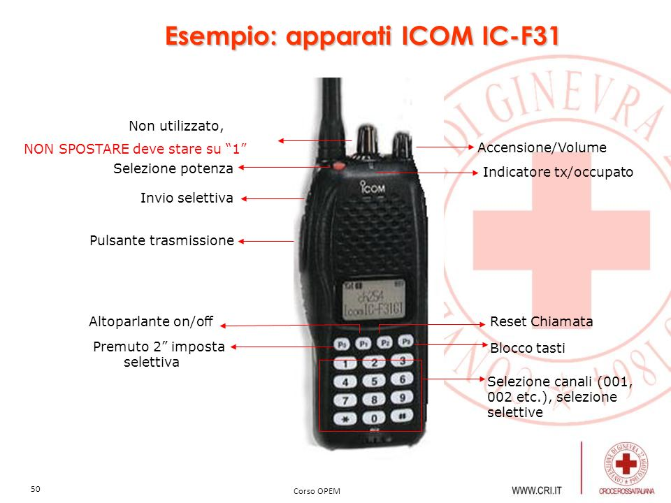 Esempio: apparati ICOM IC-F31