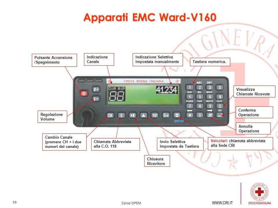 Apparati EMC Ward-V160 Pulsante Accensione /Spegnimento