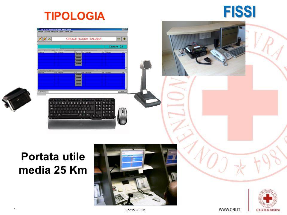 FISSI TIPOLOGIA Portata utile media 25 Km