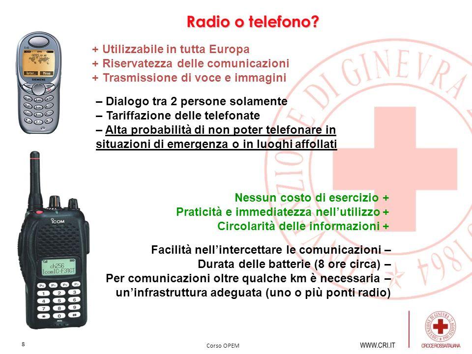 Radio o telefono + Utilizzabile in tutta Europa