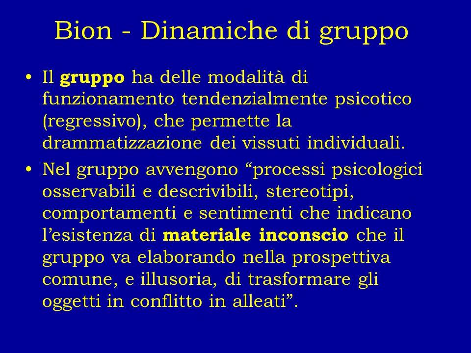Bion - Dinamiche di gruppo
