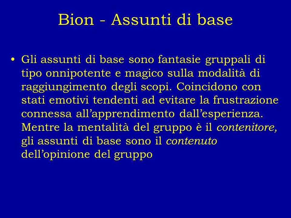 Bion - Assunti di base