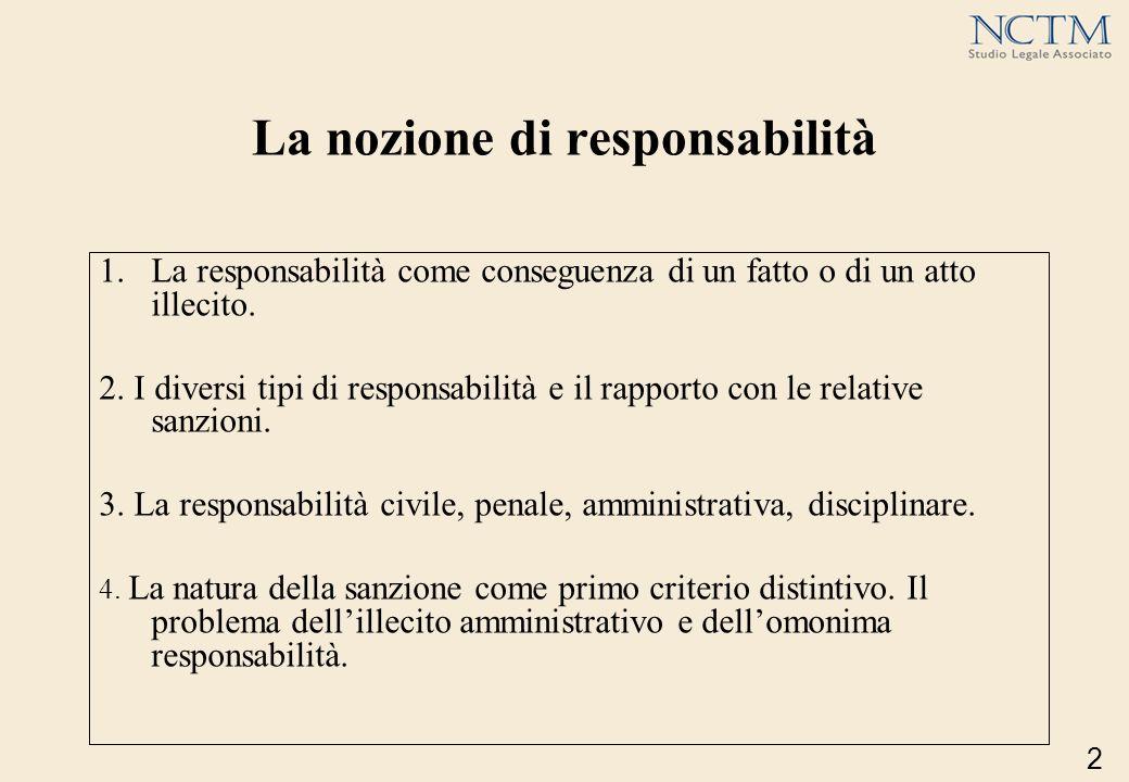 La nozione di responsabilità