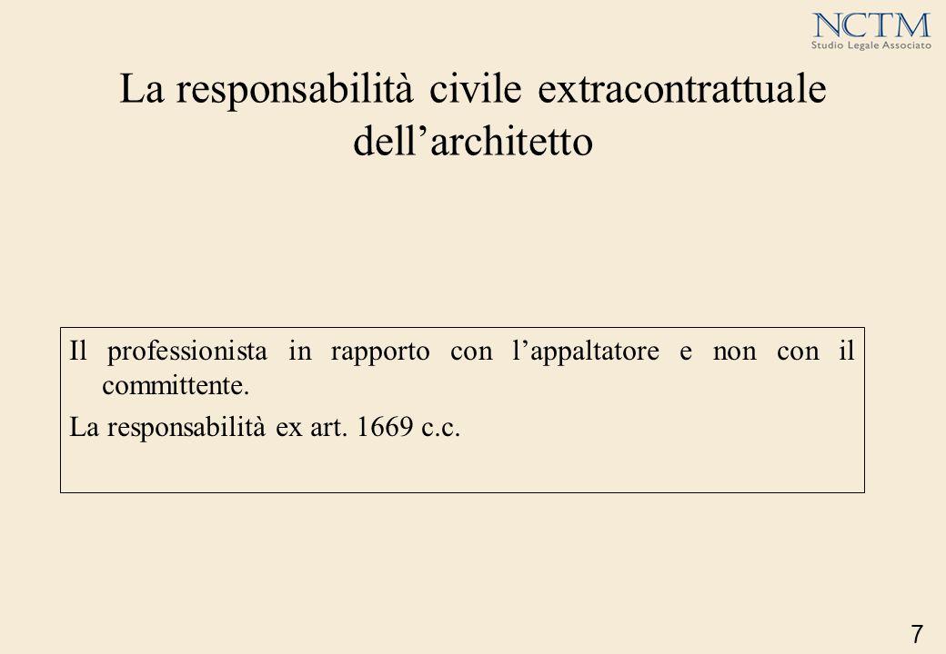 La responsabilità civile extracontrattuale dell'architetto