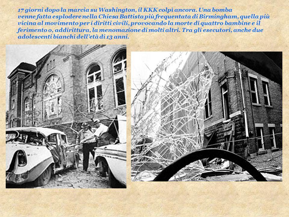 17 giorni dopo la marcia su Washington, il KKK colpì ancora. Una bomba