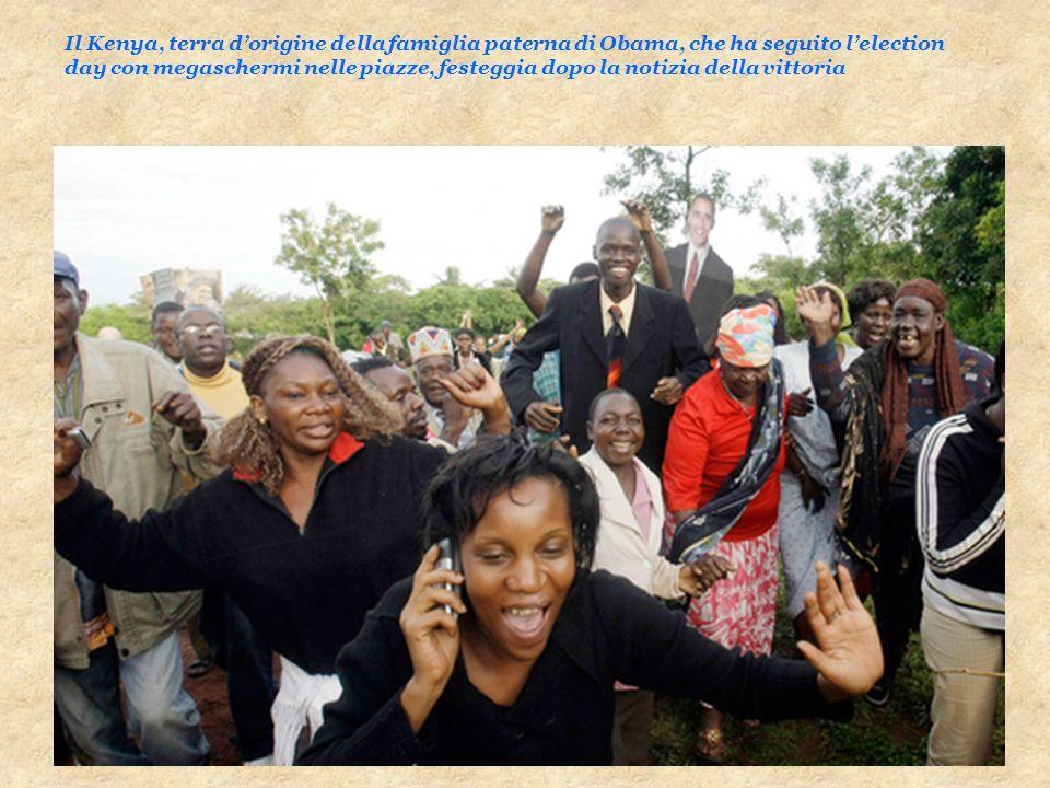 Il Kenya, terra d'origine della famiglia paterna di Obama, che ha seguito l'election