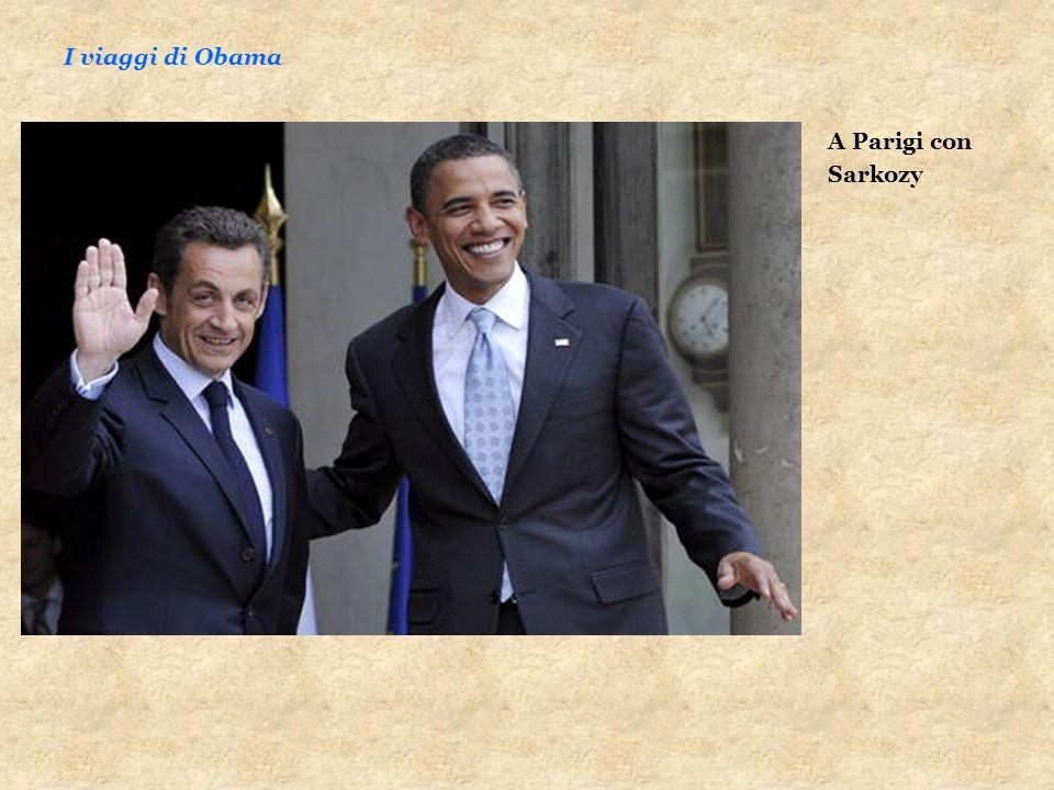 I viaggi di Obama A Parigi con Sarkozy