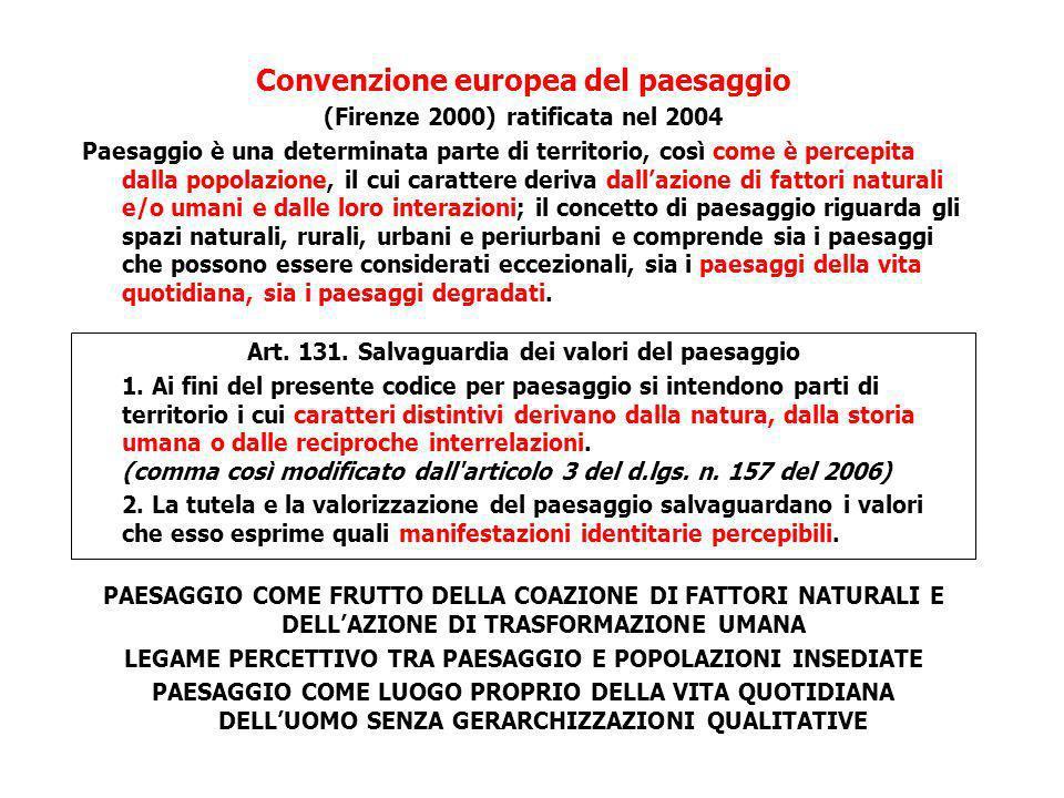 Convenzione europea del paesaggio