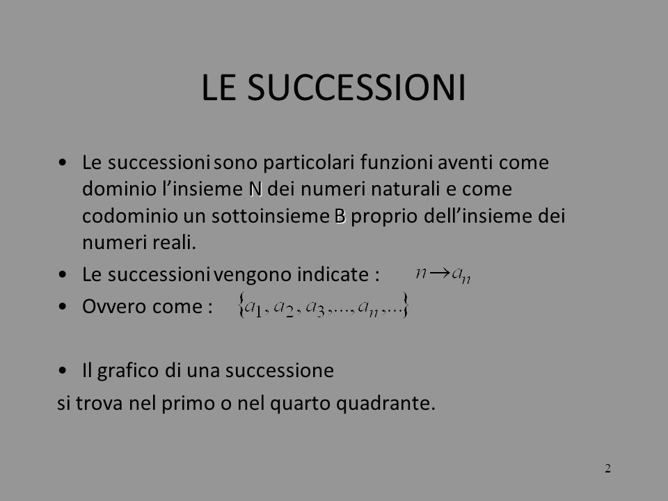LE SUCCESSIONI