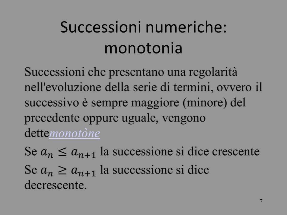 Successioni numeriche: monotonia