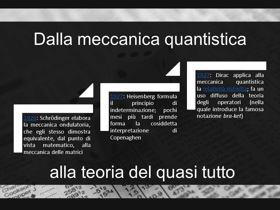 Dalla meccanica quantistica