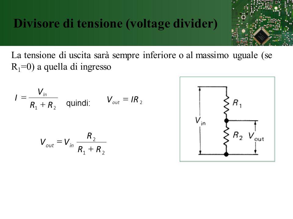 Divisore di tensione (voltage divider)