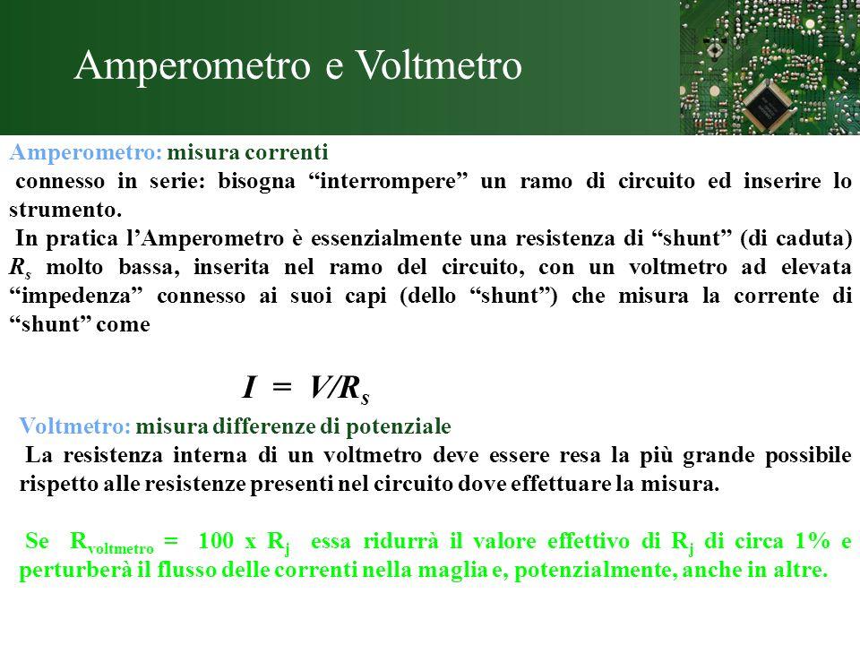 Amperometro e Voltmetro