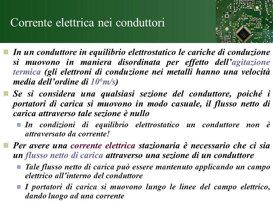 Corrente elettrica nei conduttori