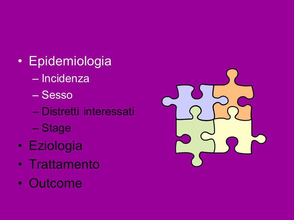 Epidemiologia Eziologia Trattamento Outcome Incidenza Sesso