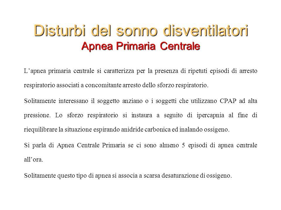 Disturbi del sonno disventilatori Apnea Primaria Centrale