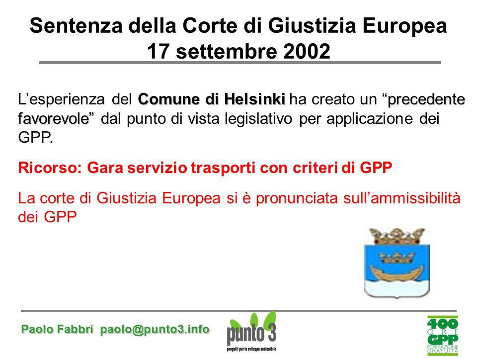 Sentenza della Corte di Giustizia Europea 17 settembre 2002