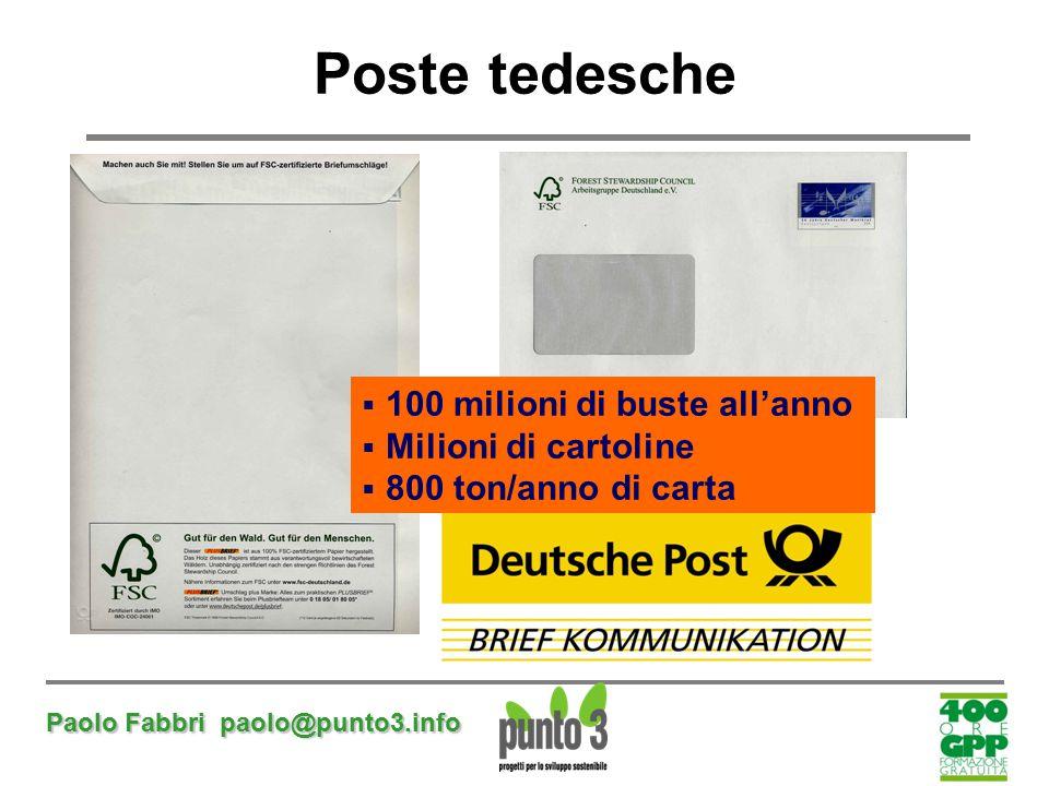 Poste tedesche 100 milioni di buste all'anno Milioni di cartoline