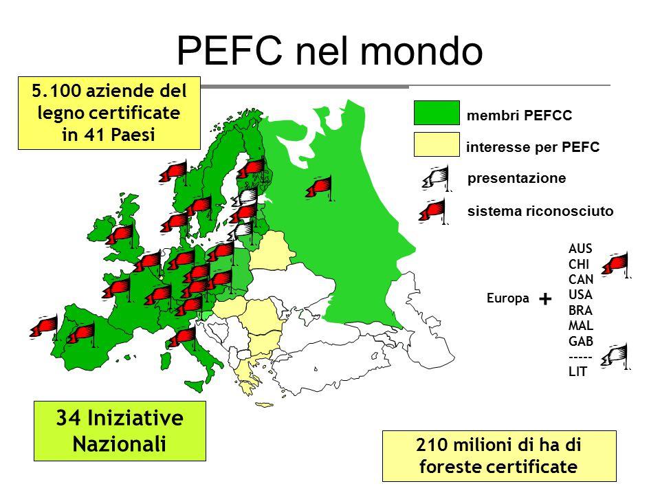 PEFC nel mondo + 34 Iniziative Nazionali