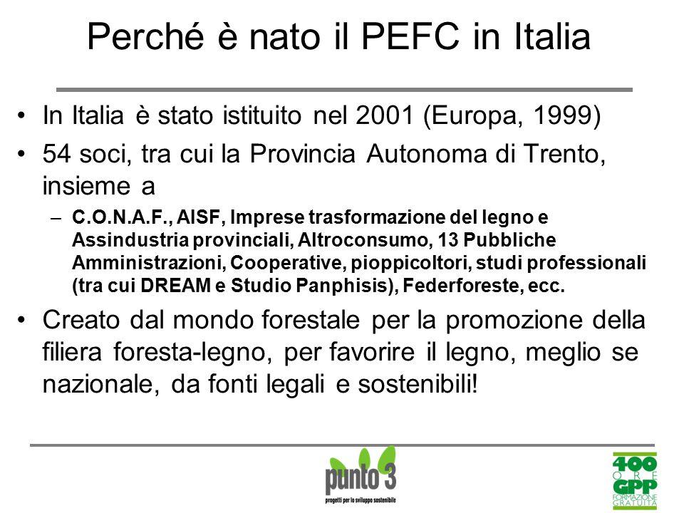Perché è nato il PEFC in Italia