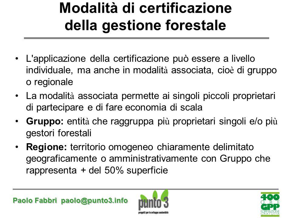 Modalità di certificazione della gestione forestale