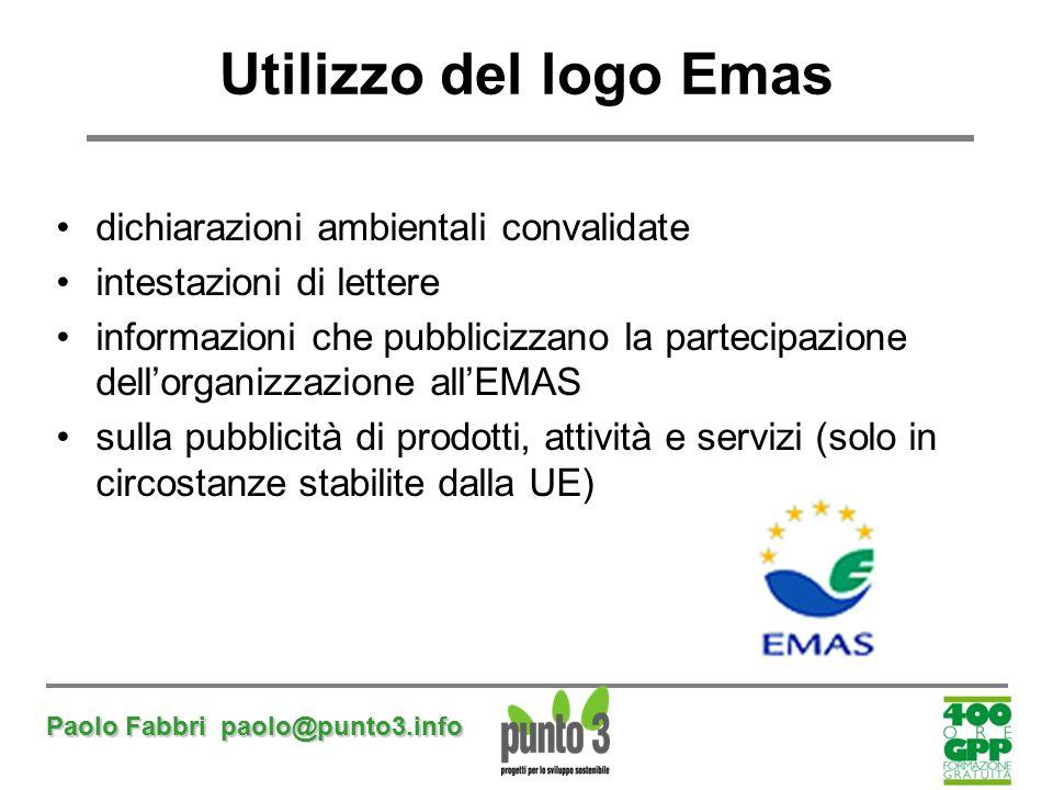Utilizzo del logo Emas dichiarazioni ambientali convalidate