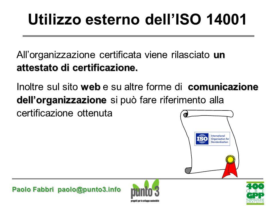 Utilizzo esterno dell'ISO 14001