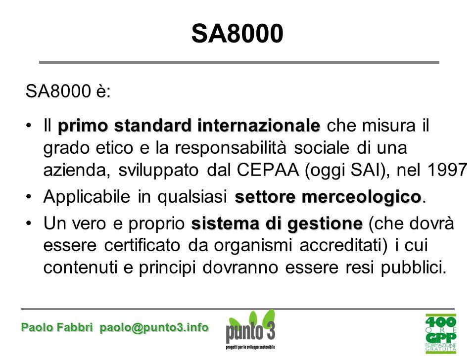 SA8000 SA8000 è: