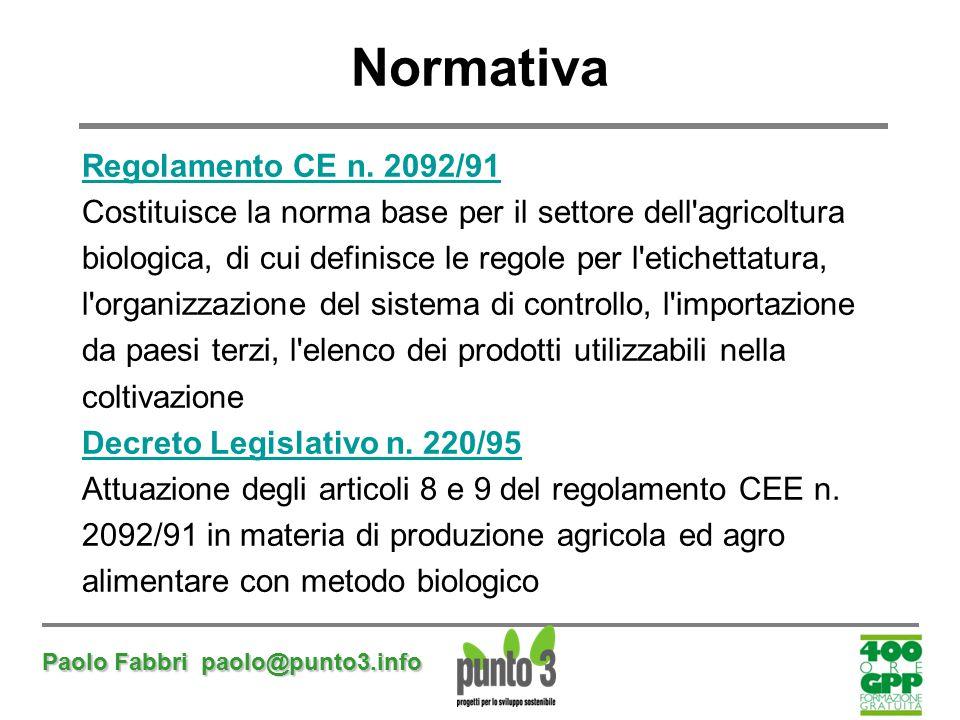 Normativa Regolamento CE n. 2092/91