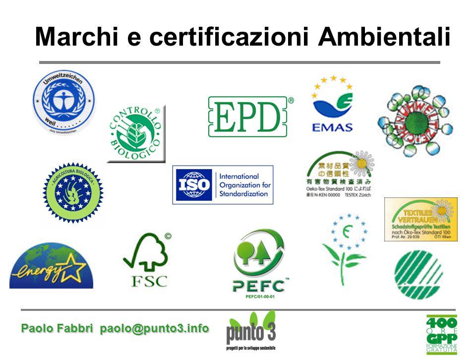 Marchi e certificazioni Ambientali