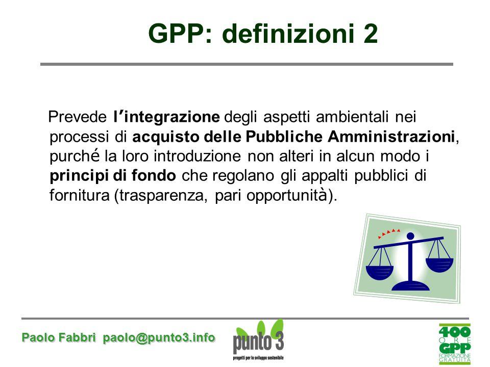 GPP: definizioni 2