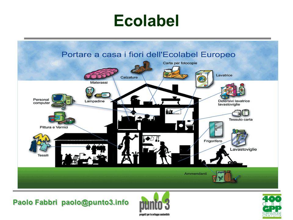 Ecolabel Paolo Fabbri paolo@punto3.info