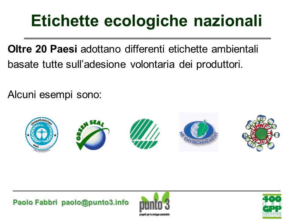 Etichette ecologiche nazionali