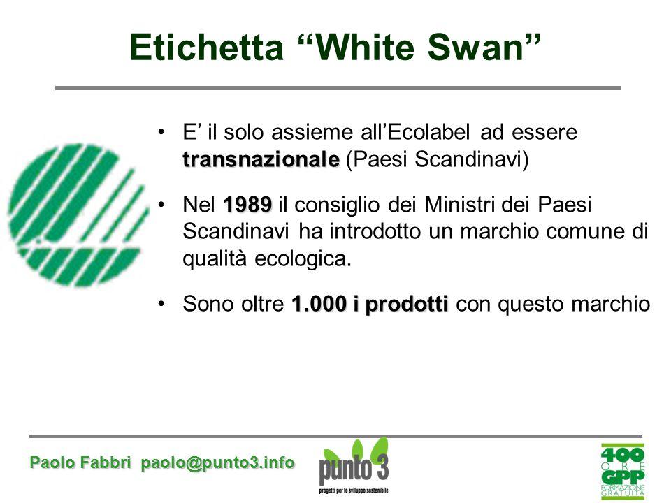 Etichetta White Swan