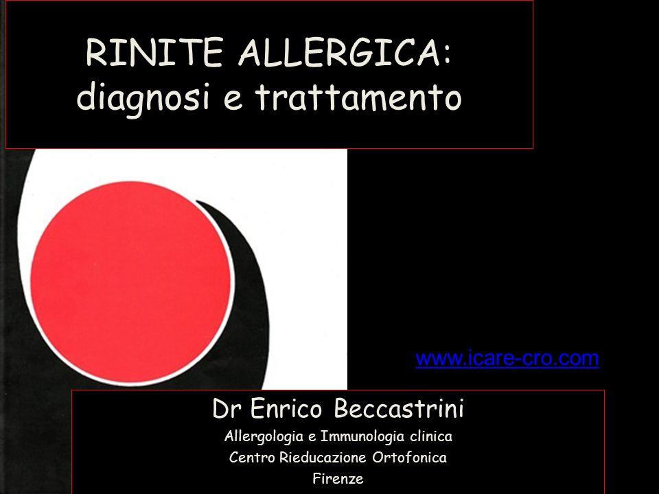 RINITE ALLERGICA: diagnosi e trattamento
