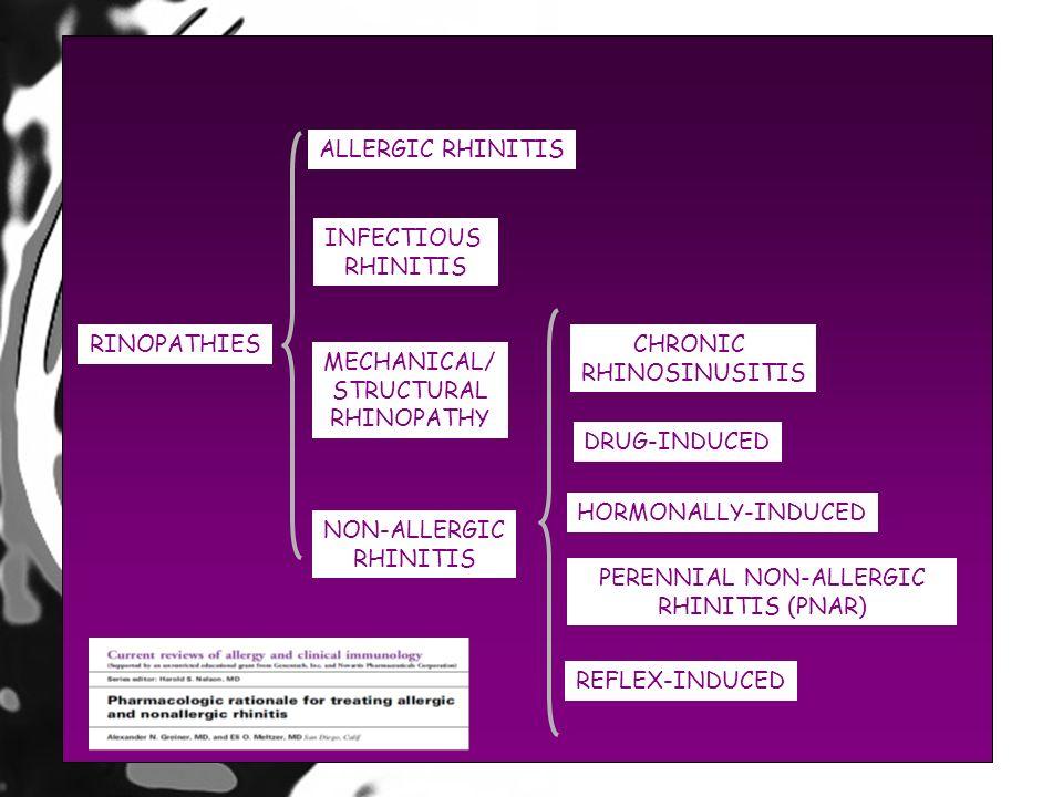PERENNIAL NON-ALLERGIC RHINITIS (PNAR)