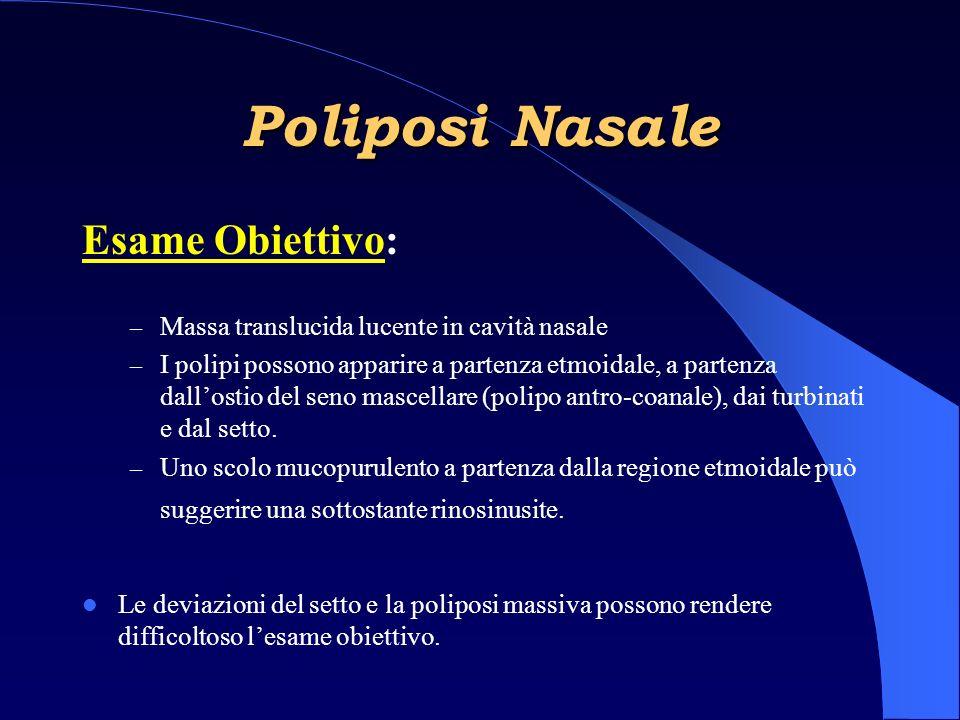 Poliposi Nasale Esame Obiettivo: