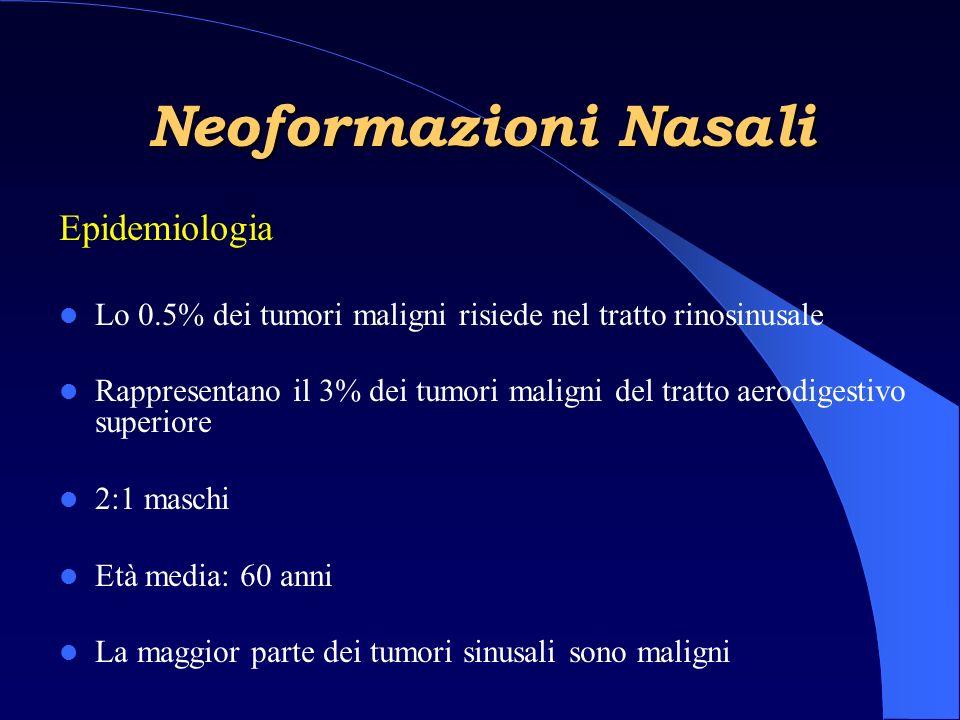 Neoformazioni Nasali Epidemiologia