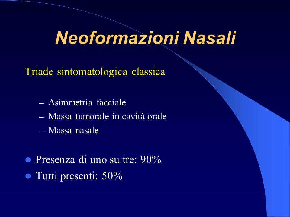 Neoformazioni Nasali Triade sintomatologica classica
