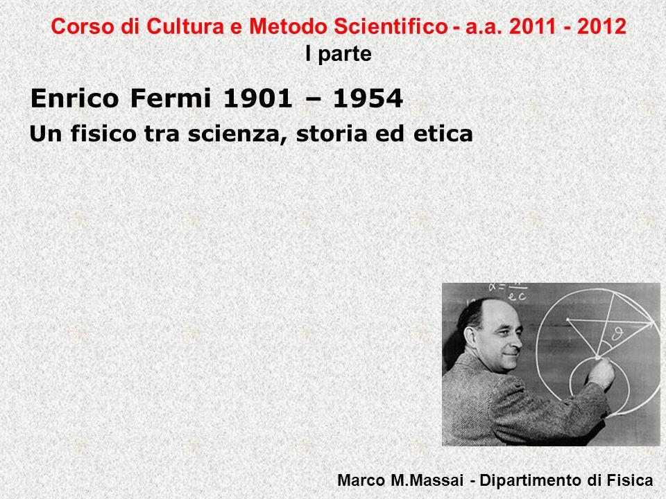 Corso di Cultura e Metodo Scientifico - a.a. 2011 - 2012