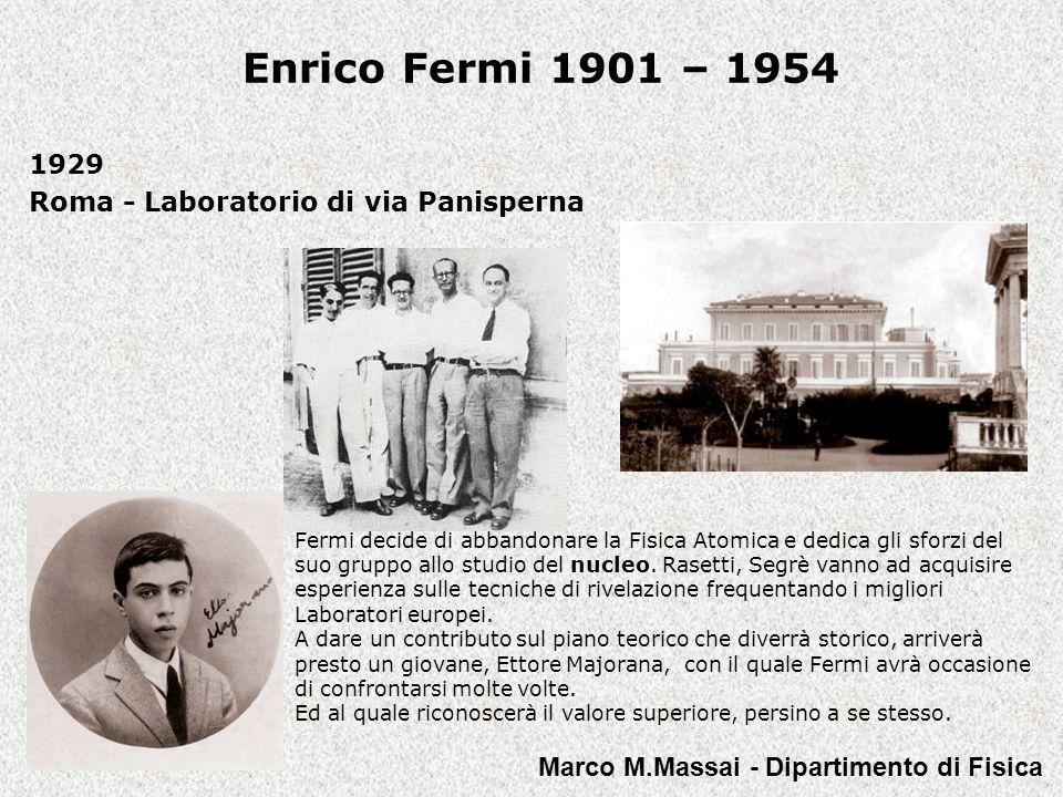 1929 Roma - Laboratorio di via Panisperna
