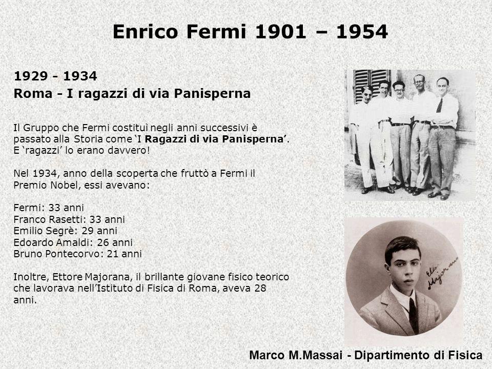 1929 - 1934 Roma - I ragazzi di via Panisperna