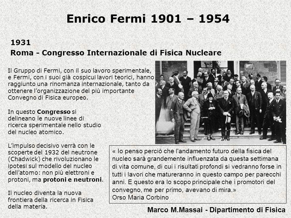 1931 Roma - Congresso Internazionale di Fisica Nucleare