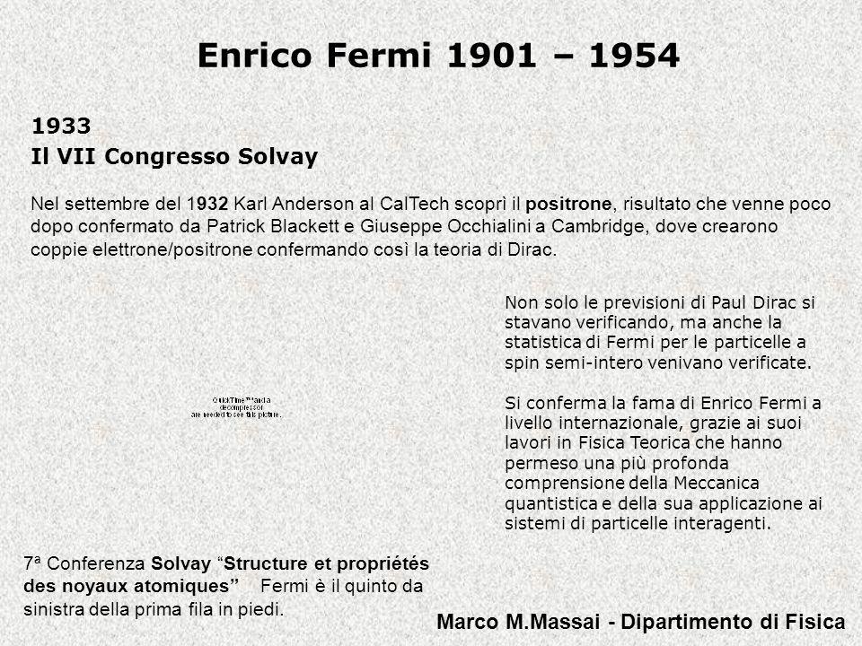 1933 Il VII Congresso Solvay