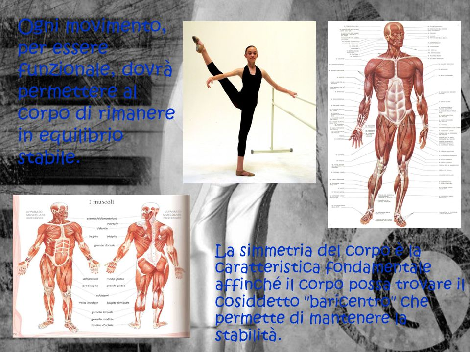 Ogni movimento, per essere funzionale, dovrà permettere al corpo di rimanere in equilibrio stabile.